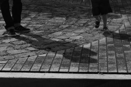 footsteps...
