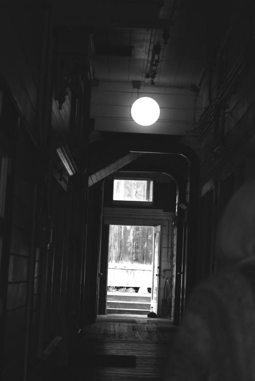 crooked hallway
